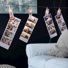 DecoKing šviečianti girlianda su segtukais, 60 LED kaina ir informacija | Girliandos | pigu.lt