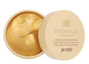 Подушечки для век Petitfee Gold & Snail Hydrogel Eye Patch 60 шт. цена и информация | Подушечки для век Petitfee Gold & Snail Hydrogel Eye Patch 60 шт. | pigu.lt