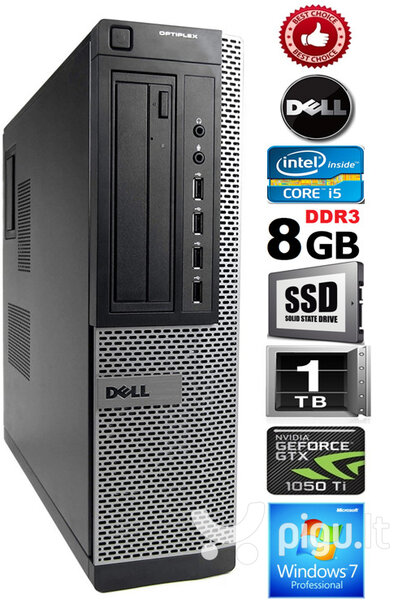 DELL Optiplex 7010 Core i5-3570 8GB 240SSD 1TB HDD Windows 7 Professional
