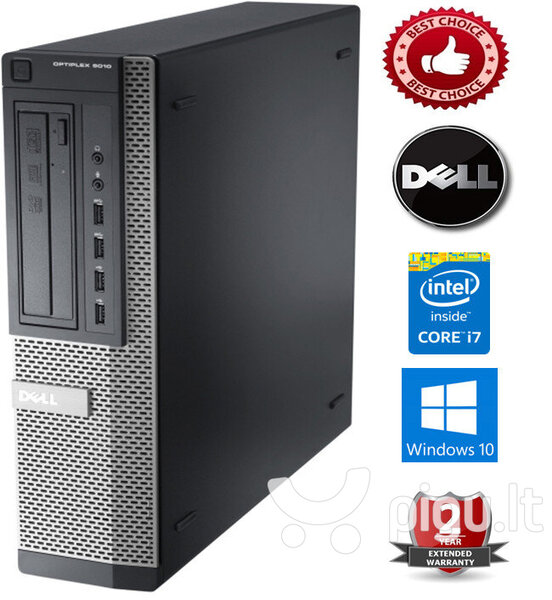 Dell Optiplex 7010 Intel Core i7-3770 16GB 1TB HDD Windows 10 Professional