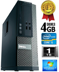 Dell Optiplex 390 i5-2400 4GB 1TB DVDRW Windows 7 Professional kaina ir informacija | Dell Optiplex 390 i5-2400 4GB 1TB DVDRW Windows 7 Professional | pigu.lt