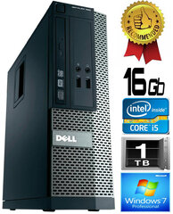 Dell Optiplex 390 i5-2400 16GB 1TB DVDRW Windows 7 Professional kaina ir informacija | Dell Optiplex 390 i5-2400 16GB 1TB DVDRW Windows 7 Professional | pigu.lt