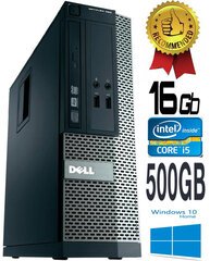 Dell Optiplex 390 i5-2400 16GB 500GB DVDRW Windows 10 kaina ir informacija | Dell Optiplex 390 i5-2400 16GB 500GB DVDRW Windows 10 | pigu.lt