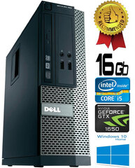 Dell Optiplex 390 i5-2400 16GB 500GB GTX1650 4GB DVDRW Windows 10 kaina ir informacija | Dell Optiplex 390 i5-2400 16GB 500GB GTX1650 4GB DVDRW Windows 10 | pigu.lt
