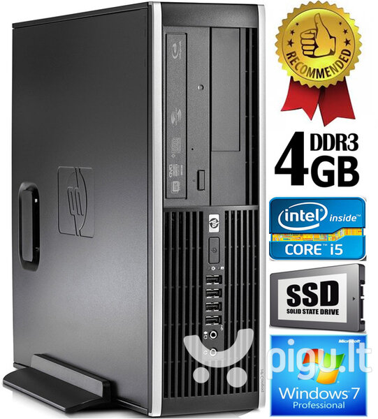 HP Compaq Elite 8100 Intel® Core™ i5-650 4GB 240GB SSD Windows 7 Professional