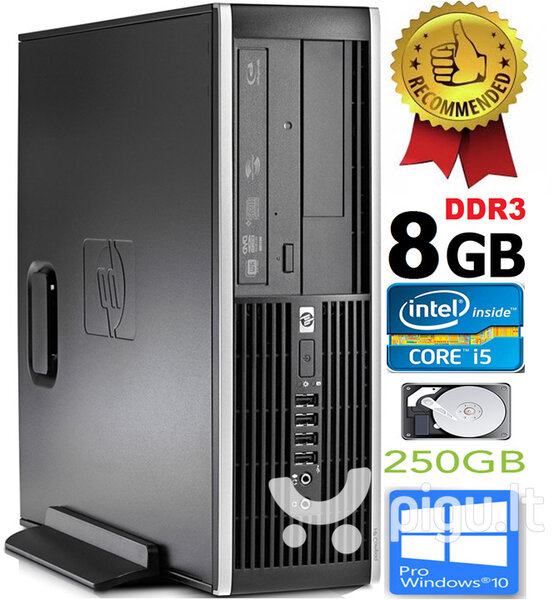 HP Compaq Elite 8100 Intel® Core™ i5-650 8GB 250GB Windows 10 Professional