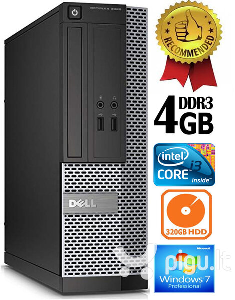 Dell Optiplex 7020 i3-4130 3.4Ghz 4GB 320GB HDD Windows 7 Professional