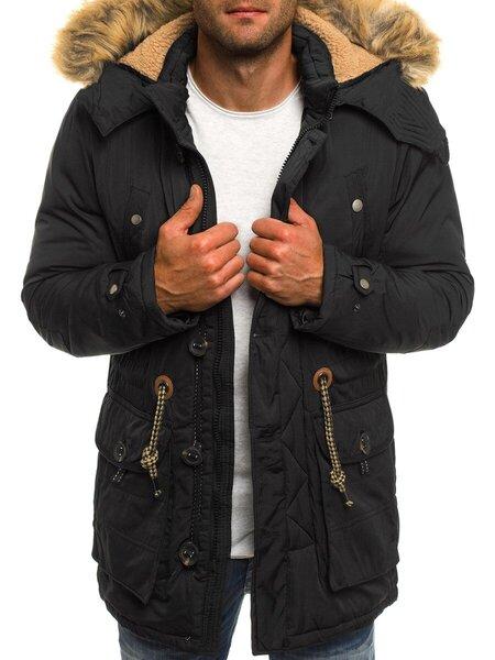 Vyriška stilinga juodos spalvos striukė Rovex   цена и информация | Мужские куртки | pigu.lt