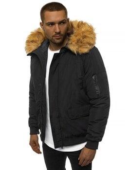 Bomber stiliaus žieminė juoda vyriška striukė Misol kaina ir informacija | Vyriškos striukės | pigu.lt