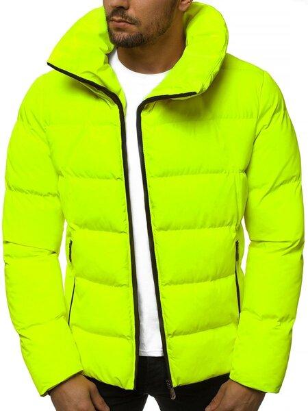 """Stilinga vyriška žieminė geltona-neoninė striukė """"Kamor"""""""