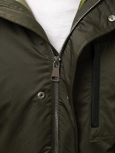 """Žalios spalvos vyriška universali žieminė striukė su kailiu """"Give"""" atsiliepimas"""
