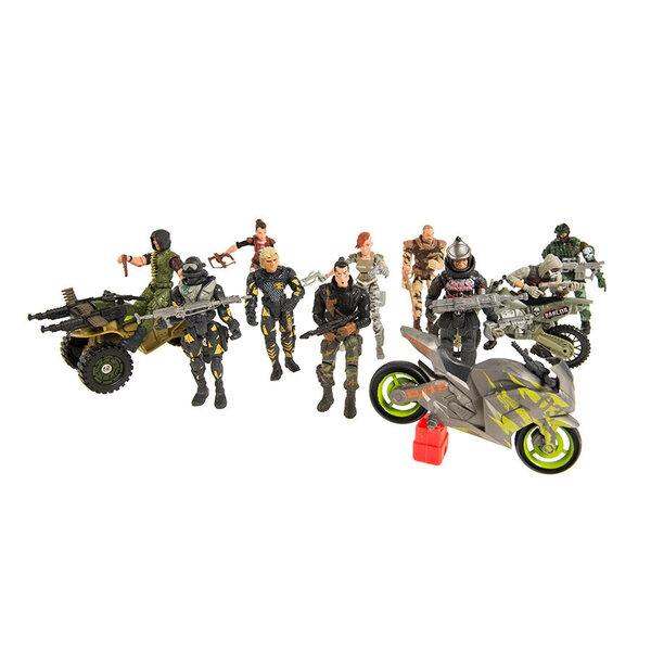 Karinis rinkinys Kariuomenė Smiki: figūrėlės 10 vnt + transporto priemonės 3 vnt kaina ir informacija | Žaislai berniukams | pigu.lt