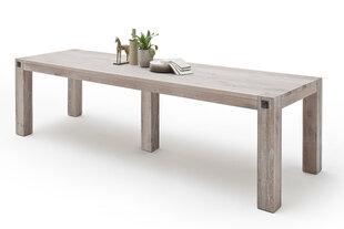 Valgomojo stalas MC Akcent Leeds, 400x120 cm, baltas kaina ir informacija | Virtuvės ir valgomojo stalai, staliukai | pigu.lt