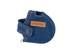 Pavadėlio dėklas Amiplay Denim Navy Blue, XL kaina ir informacija | Pavadėliai, antkakliai, petnešos šunims | pigu.lt