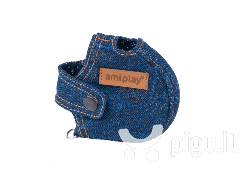Pavadėlio dėklas Amiplay Denim Navy Blue, S