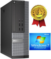 Dell 7020 SFF i5-4670 4GB 240GB SSD Windows 7 Professional kaina ir informacija | Dell 7020 SFF i5-4670 4GB 240GB SSD Windows 7 Professional | pigu.lt