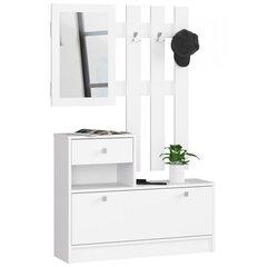 Prieškambario baldų komplektas NORE, baltas цена и информация | Prieškambario baldų komplektas NORE, baltas | pigu.lt