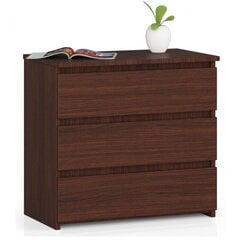 Naktinė spintelė-komoda NORE CL3 60 cm, ruda kaina ir informacija | Spintelės prie lovos | pigu.lt