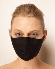 Daugkartinė veido kaukė, juoda M-L kaina ir informacija | Medicininės prekės | pigu.lt