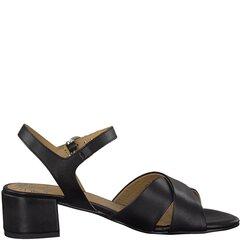 Marco Tozzi moteriškos juodos odinės basutės kaina ir informacija | Bateliai, basutės moterims | pigu.lt