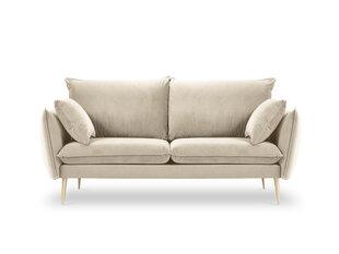Dvivietė aksominė sofa Milo Casa Elio, smėlio/auksinės spalvos kaina ir informacija | Sofos | pigu.lt