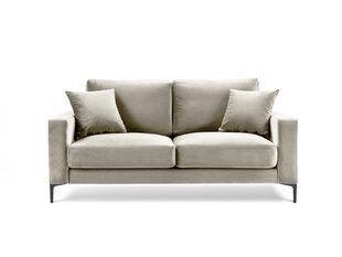 Dvivietė aksominė sofa Kooko Home Harmony, smėlio spalvos kaina ir informacija | Sofos | pigu.lt
