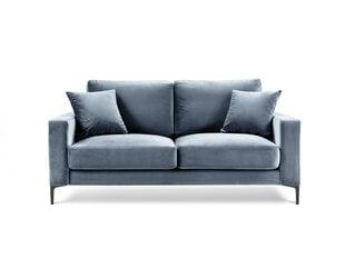 Dvivietė aksominė sofa Kooko Home Harmony, šviesiai mėlyna kaina ir informacija | Sofos | pigu.lt