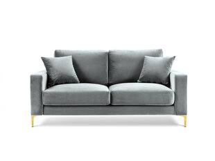 Dvivietė aksominė sofa Kooko Home Poeme, šviesiai pilka kaina ir informacija | Sofos | pigu.lt