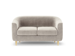 Dvivietė aksominė sofa Kooko Home Tact, smėlio spalvos kaina ir informacija | Dvivietė aksominė sofa Kooko Home Tact, smėlio spalvos | pigu.lt