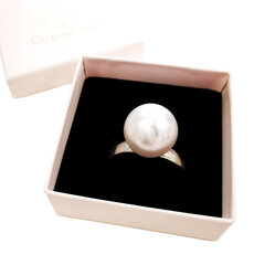 Sidabrinis Žiedas su Swarovski Perlu Cinamonn kaina ir informacija | Žiedai | pigu.lt