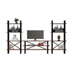 Sekcija Kalune Design Desta, ruda/juoda kaina ir informacija | Sekcija Kalune Design Desta, ruda/juoda | pigu.lt