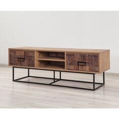 TV staliukas Kalune Design Quantum Silva 140 cm, tamsiai rudas/juodas kaina ir informacija | TV staliukai | pigu.lt