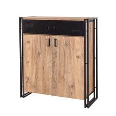 Prieškambario spintelė Kalune Design Cosmo Pesus, ruda/juoda kaina ir informacija | Prieškambario spintelės | pigu.lt