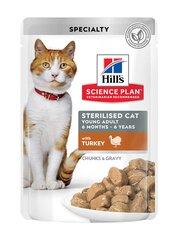 Hill's Science Plan Sterilised Cat Young Adult ėdalas katėms su kalakutiena, 12x85g kaina ir informacija   Konservai katėms   pigu.lt