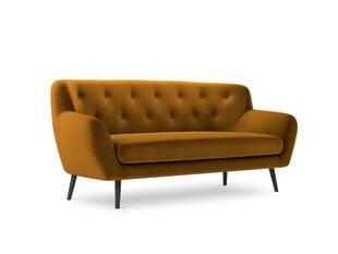 Sofa Micadoni Home Mica 3S, geltona kaina ir informacija | Sofa Micadoni Home Mica 3S, geltona | pigu.lt