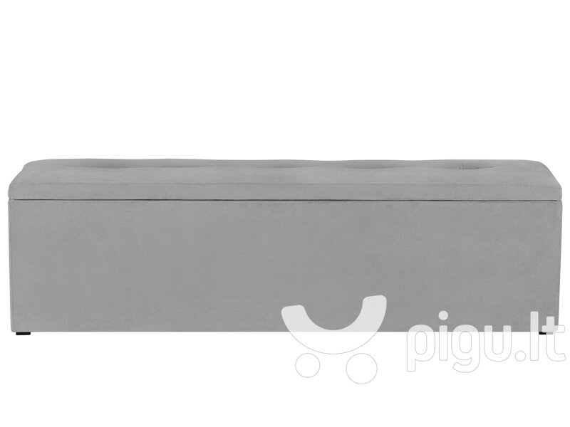 Pufas su daiktadėže Kooko Home Mi 140, pilkas internetu