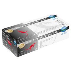 Vienkartinės latekso (lateksinės) pirštinės Unigloves Select Black, (be pudros), ilgos, juodos, M dydis, 100 vnt. kaina ir informacija | Pirmoji pagalba | pigu.lt