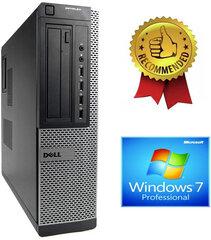 Dell 790 DT i5-2400S 16GB 480GB SSD 2TB HDD GTX1650 4gb DVDRW Windows 7 Pro kaina ir informacija | Stacionarūs kompiuteriai | pigu.lt