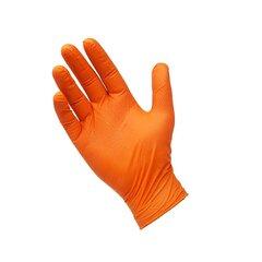 Vienkartinės nitrilo (nitrilinės) pirštinės Unigloves Protect (be pudros), oranžinės, M dydis, 100 vnt. kaina ir informacija | Pirmoji pagalba | pigu.lt