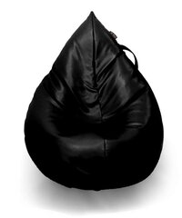 Sėdmaišis Qubo™ Splash Drop, dirbtinė oda, juodas kaina ir informacija | Sėdmaišis Qubo™ Splash Drop, dirbtinė oda, juodas | pigu.lt