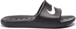 Šlepetės paaugliams Nike Kawa Shower, juodos kaina ir informacija | Paplūdimio avalynė vaikams | pigu.lt