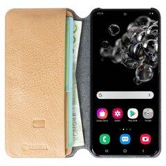 Krusell Sunne PhoneWallet, skirtas Samsung Galaxy S20, kreminis kaina ir informacija | Telefono dėklai | pigu.lt