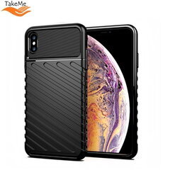TakeMe Thunder TPU super thin back cover case for Apple iPhone XS Max Black kaina ir informacija | Telefono dėklai | pigu.lt