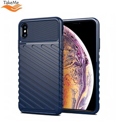 TakeMe Thunder TPU super thin back cover case for Apple iPhone XS Max Dark blue kaina ir informacija | Telefono dėklai | pigu.lt