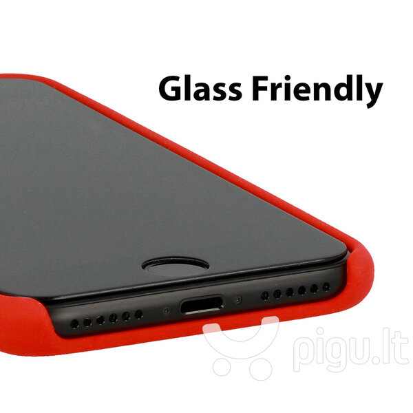 Vennus dėklas telefonui (silikonas) skirtas Samsung Galaxy A6 Plus, raudonas pigiau