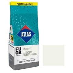 Keraminis siūlių glaistas Atlas 201, 2 kg, šiltai baltas kaina ir informacija | Gruntai, glaistai ir kt. | pigu.lt