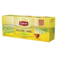 LIPTON YELLOW LABEL Juoda arbata, 25 vnt kaina ir informacija | Arbata | pigu.lt