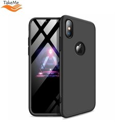 TakeMe Ultra slim 3 parts 360 Protection Back Full cover case for Apple iPhone Xs Max Black kaina ir informacija | Telefono dėklai | pigu.lt