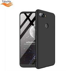 TakeMe Ultra slim 3 parts 360 Protection Back Full cover case for Xiaomi Mi 8 Lite / Mi 8X Black kaina ir informacija | Telefono dėklai | pigu.lt