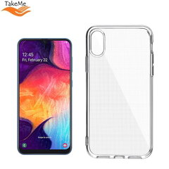 "TakeMe ""Clear"" series Transparent 2mm thin back cover case for Samsung Galaxy A50 (A505F) / A30s (A307F) kaina ir informacija 
